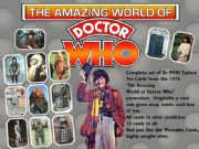 Doctor Who Typhoo Tea Cards Set of 12 Mint 1976